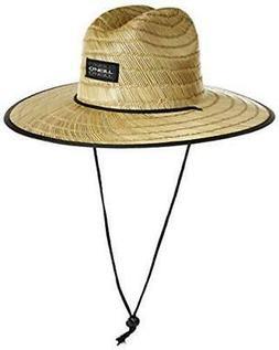 O'NEILL Men's Sonoma Print Straw Lifeguard Hat,, Asphalt/Son