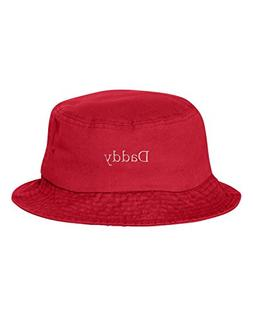 Go All Out One Size Red Adult Daddy Embroidered Bucket Cap D
