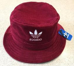 Adidas Original Wide Wale Bucket Hat CK6756 Burgundy/White C