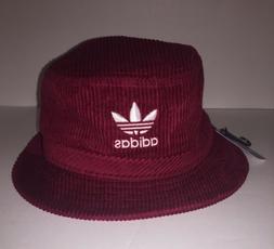 Adidas Original Wide Wale Bucket Hat Collegiate Burgundy/Whi