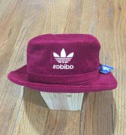 e38d10b7 Adidas Original Wide Wale Burgundy Corduroy Bucket Hat Crush