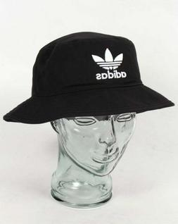 adidas Originals Bucket Hat in Black with embroidered trefoi