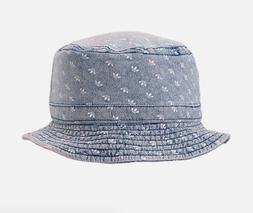 Adidas Originals Denim All Over Print Summer Bucket Hat