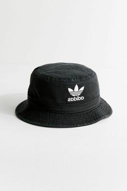 adidas Originals Trefoil Washed Bucket Hat Black retro denim