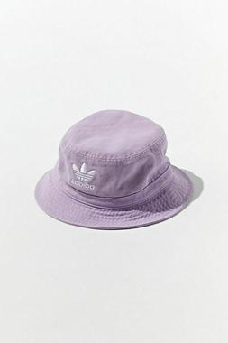 71f3c1e5 adidas Originals Washed Bucket Hat Purple Embroidered Trefoi