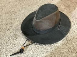 Dorfman Pacific Outback Safari Hat w/Chin Strap Size L RN#31