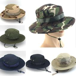 Outdoor Boonie Bucket Hat Hunting Fishing Cap Wide Brim Mili