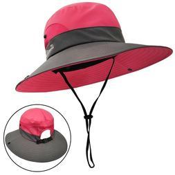 LETHMIK Outdoor Sun Bucket Hat,Womens Adjustable Boonie Fish