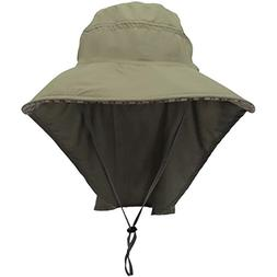 Lanzom Outdoor Sun Cap Camouflage Bucket Mesh Boonie Hat Fis