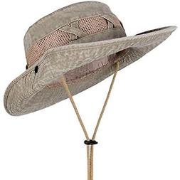 Outdoor Sun Protection Wide Brim Boonie Hat Bucket Safari Hu