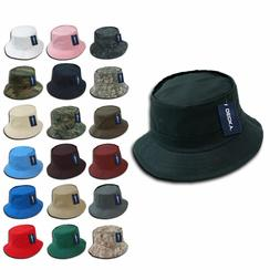 Pack of 6 DECKY Fisherman's Bucket Fitted Hats Caps Cotton W