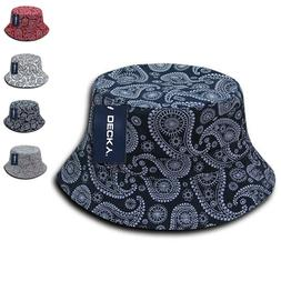 paisley bandana design fitted bucket boonie hats