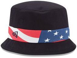 New Era Patriotic Bucket Hat Cap Floppy Stars & Stripes Flag