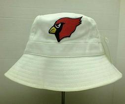 PHOENIX CARDINALS NFL VINTAGE BUCKET HAT CAP L/XL WHITE NWT