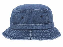 Pigment Dyed Bucket Hat, Denim
