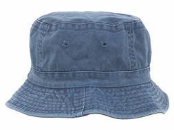 Pigment Dyed Bucket Hat-Indigo