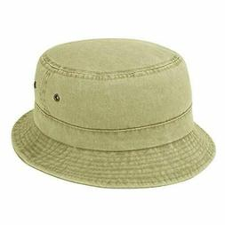 Pigment Dyed Twill Cotton Bucket Hat Plain Solid Color Fishi