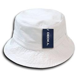 26459676e DECKY Polo Bucket Hat, White, Small/Medium