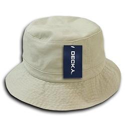 DECKY Polo Bucket Hat, Stone, Small/Medium