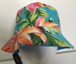 Polo Ralph Lauren Bucket Hat~Blue Yellow~Reversible~Hawaiian