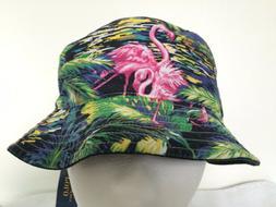 Polo Ralph Lauren Bucket Hat~Solid Black~Reversible~Flamingo