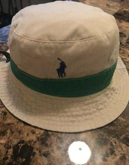 Polo Ralph Lauren Reversible Bucket Hat~Surfer Print/Khaki w
