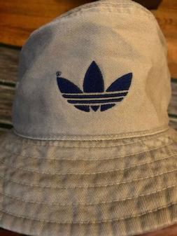 Rare Vintage ADIDAS Tan Fishing Hiking Bucket Hat Adult One