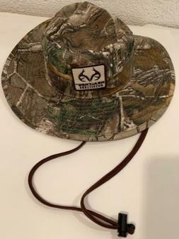 Realtree Outfitters Camo Hunting Sun Gear Bucket Hat 100% Co