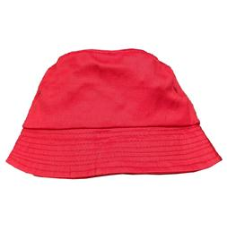 Red Canvas Bucket Hat for Baby Toddler Boy or Girl, Summer h