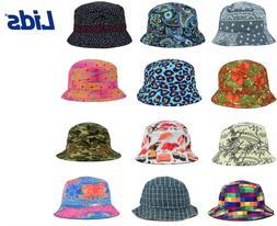 LIDS Reversible Printed Bucket Fishing Safari Hat - MANY STY