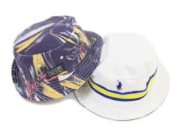 Polo Ralph Lauren Reversible Safari Bucket Hat Cap White, Bl