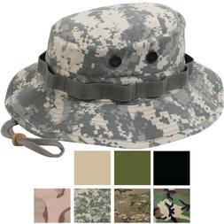 Ripstop Boonie Hat Lightweight Camo Wide Brim Military Bucke