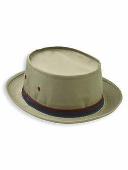 Dorfman Pacific Roll Up Bucket Hat in TAN - 830KS-