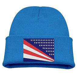 RS-pthrA4!!! US Flag Kid's Hats Winter Funny Soft Knit Beani