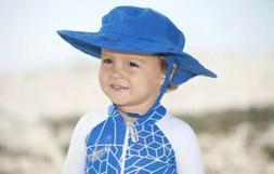 Sun Protection Zone Child Safari Hat Blue Ages 3-10 NWT