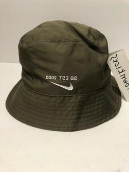 Nike SB Bucket Hat Reversible Olive Green Grey White Camo BV