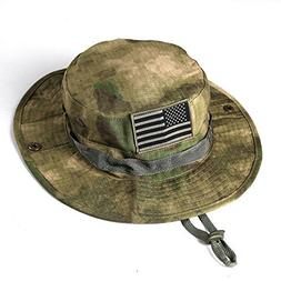 massmall Military Tactical Head Wear/Boonie Hat Cap with USA