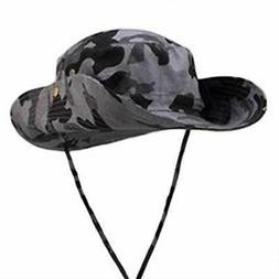 Smile most UV camouflage 2WAY safari hat ten-gallon hat larg
