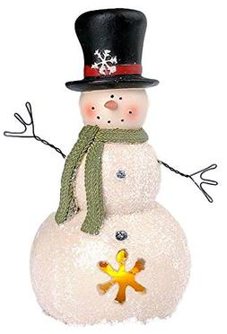 Blossom Bucket Snowman in Black Top Hat with Snowflake Cutou