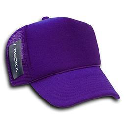 DECKY Solid Trucker Cap, Purple