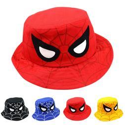 Spider Bucket Hat Kids Boy Girl Summer Beach Sun Hats Fishin
