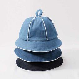 Spring Baby Boys Girls Bucket Denim Hats Toddler Reversible