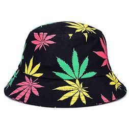 Spring Summer Maple Leaf Brooklyn Bucket Hat Hip Hop Bob Pan