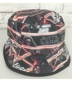 Star Wars Bucket Hat Boys NWT Reversible Graphic Black Storm