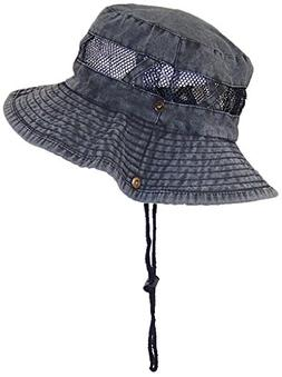 Tropic Hats Stonewash Floppy/Bucket Summer Cap W/Snap Up Sid
