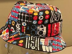 Kangol Subway RE Bucket  Reversible Black BLOWOUT Small Hat