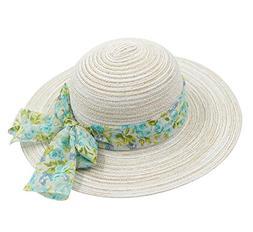 Home Prefer Womens Summer Beach Sun Hat Wide Brim Paper Stra