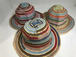 summer colors ribbon bank bucket multicolored hat
