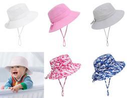 Summer Kids Baby Boys Girls Sun Protection Hat Fisherman Bea