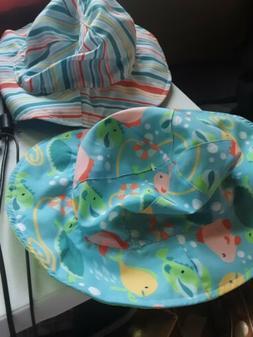 Summer Kids Boys Girls Toddler Beach Sun Bucket Hats Foldabl